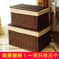 Receiving Box Super large Rattan Arrangement Box With Covered Drawer Storage Basket Super large Clothes Bed Bottom Receiving Box