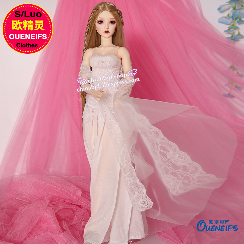 BJD SD Doll Clothes 1/3 A strapless Collar Wrapped Chest Chiffon Dress For Supia body YF3-118 Doll Accessories dynacord dynacord a 118
