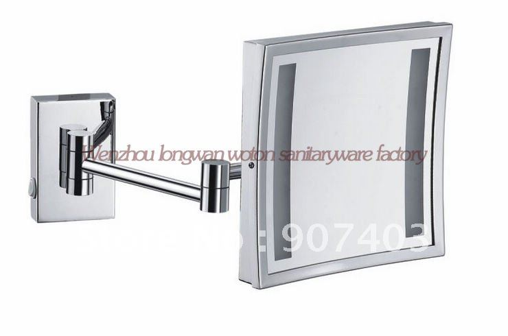 White And Chrome Bathroom Shaver Light With: Free Ems Shipping Wholesale Bathroom In Wall Chrome Square