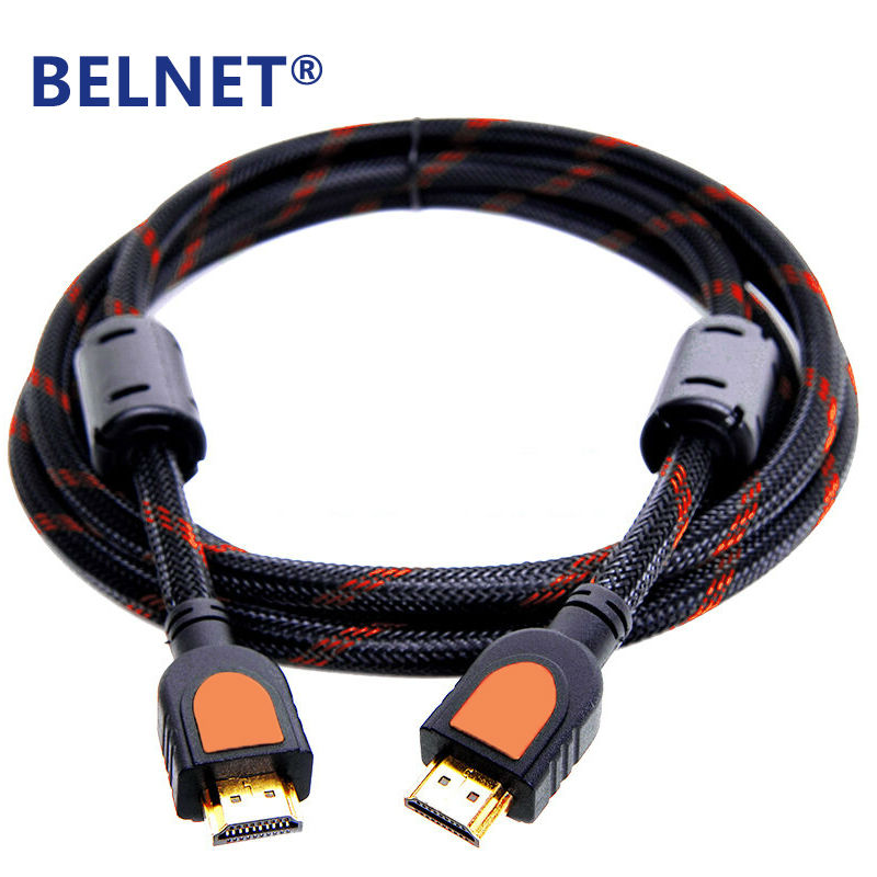 BELNET High speed HDMI Cable 1m 2m 3m 5m 8m 10m 15m 20m Gold Plated connector Male-Male HDMI Cable 4K 1080p 3D for HDTV XBOX PS3