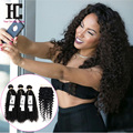 Rosa Hair Products With Closure 8A Malaysian Curly Hair With Closure 3 Bundles Malaysian Virgin Hair With Closure Human Hair HC