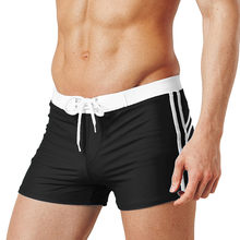CHAMSGEND Summer sports fitness home swimming trunks beach pants running swimming shorts fashion solid color thong boxer shorts(China)