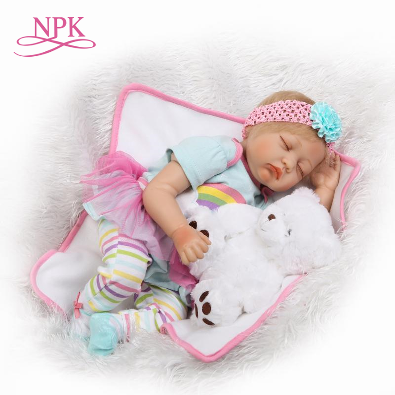 NPK soft silicone dolls reborn 22 bebe girl reborn bonecas lovely victoria princess newborn toddler doll children gift toysNPK soft silicone dolls reborn 22 bebe girl reborn bonecas lovely victoria princess newborn toddler doll children gift toys