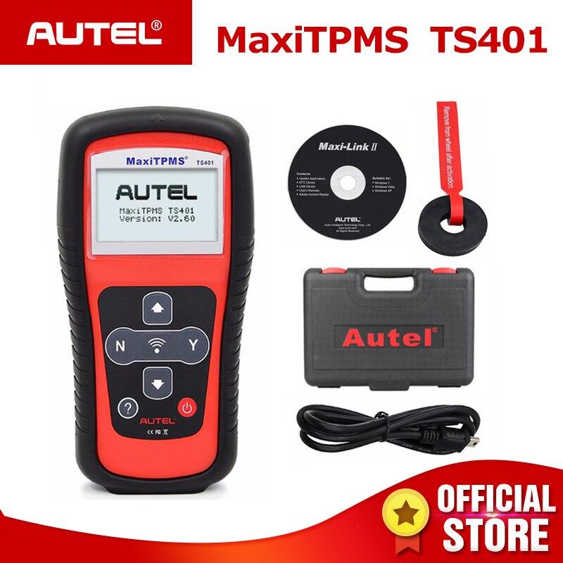 Autel MaxiTPMS TS401 Tire Pressure Monitoring System OBD2 TPMS De Diagnostic Scanner Outil Activer 315 433 mhz Capteur de Programmation