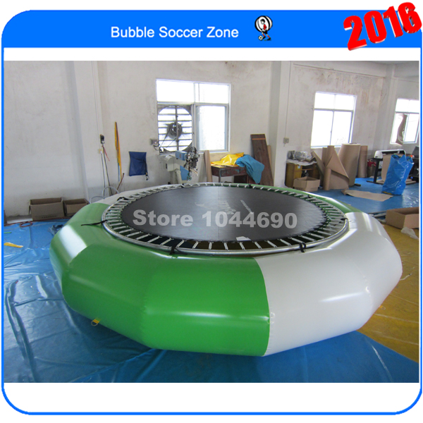 Free Shipping, Good Quality Dia 4m Inflatable Water Bouncer ,Water Trampoline free shipping 6 2m 0 9mm pvc inflatable trampoline water pillo water blob jump inflatable jumping jump bed on water