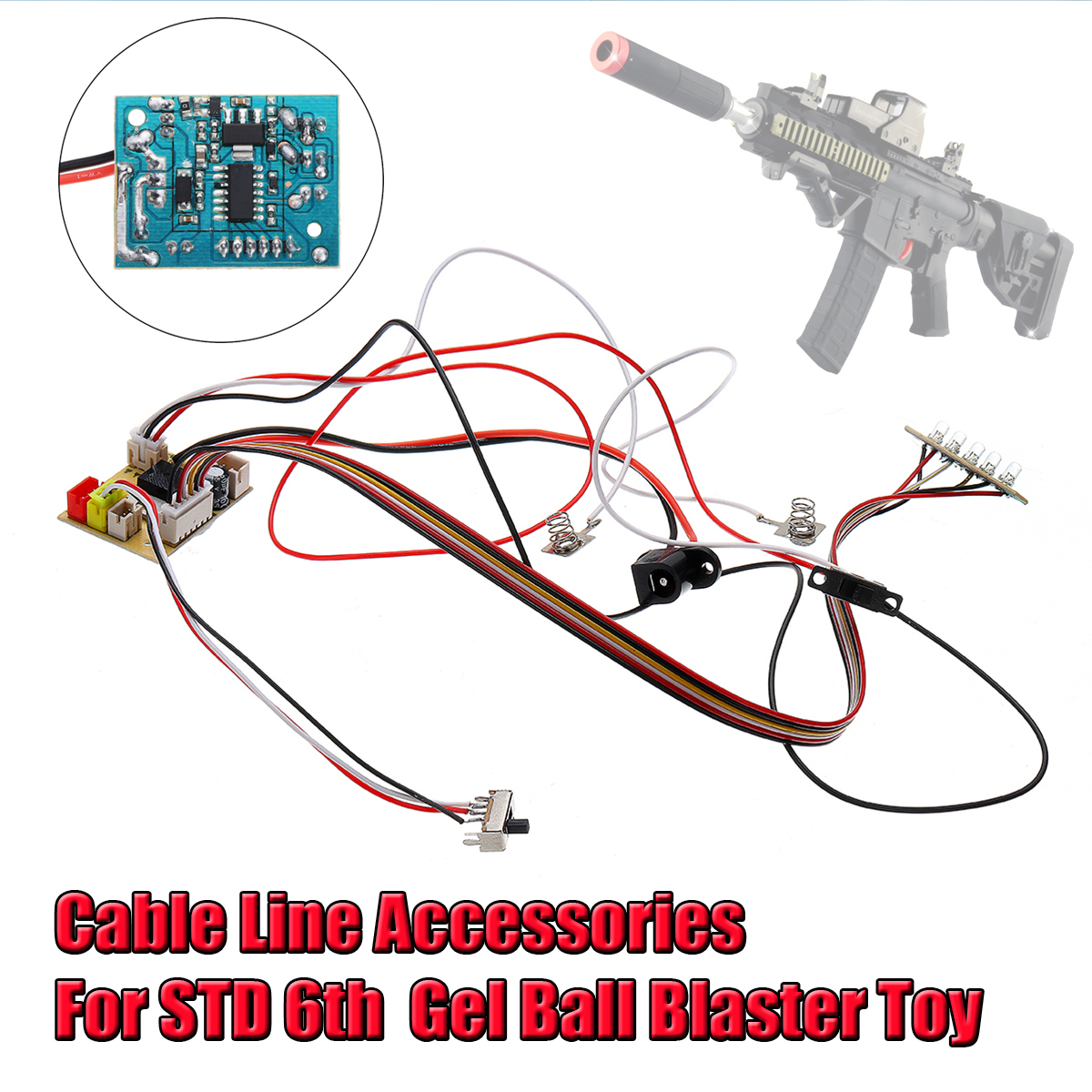 US $9 99 |Cable Line Motherboard For STD 6th Generation Gel Ball Water Toy  Outdoor Cable Line-in Toy Guns from Toys & Hobbies on Aliexpress com |