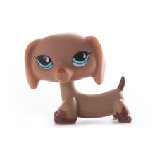 Animais raros lps pet shop brinquedo dachshund cão marrom 556 original figura collie cocker spaniel great dane criança presentes(China)