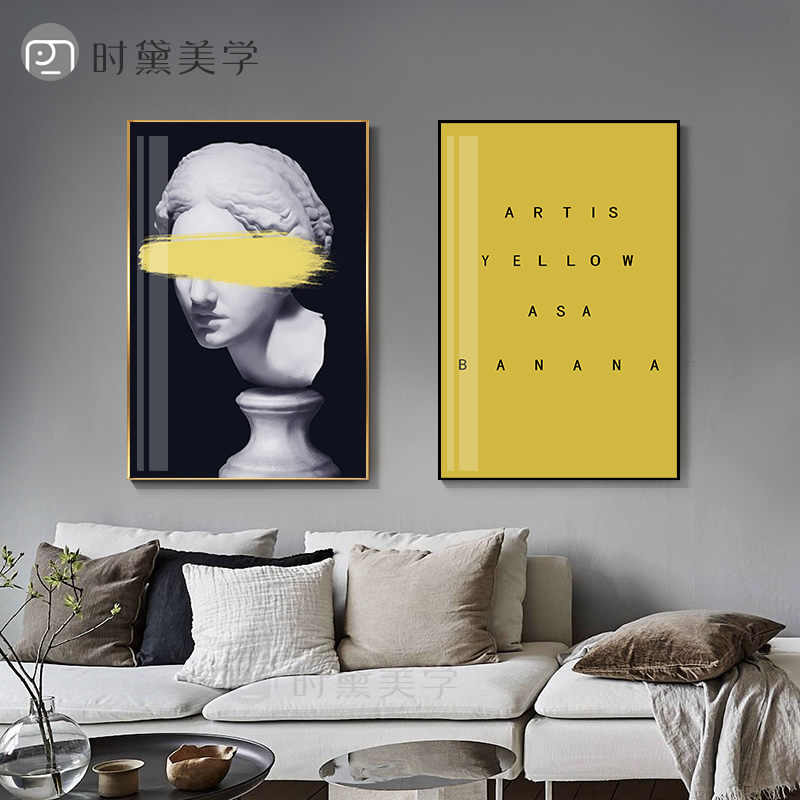 Post-Modern statue figure creative Canvas Painting Fahsion Poster Print Wall Art Picture For Living Room Aisle Modern Home Decor