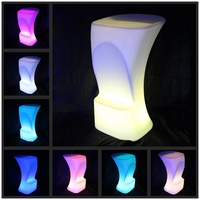 Luminous waterproof Stool High LED bar chair barstool upholstered LED Commercial Bar Furniture Bar Stools