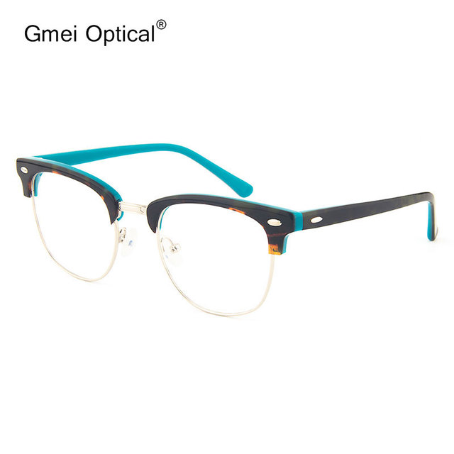 f2e7f9f6d57 Gmei Optical Oval Acetate Full-Rim Leopard Browline Front Glasses Frame for  Women and Men