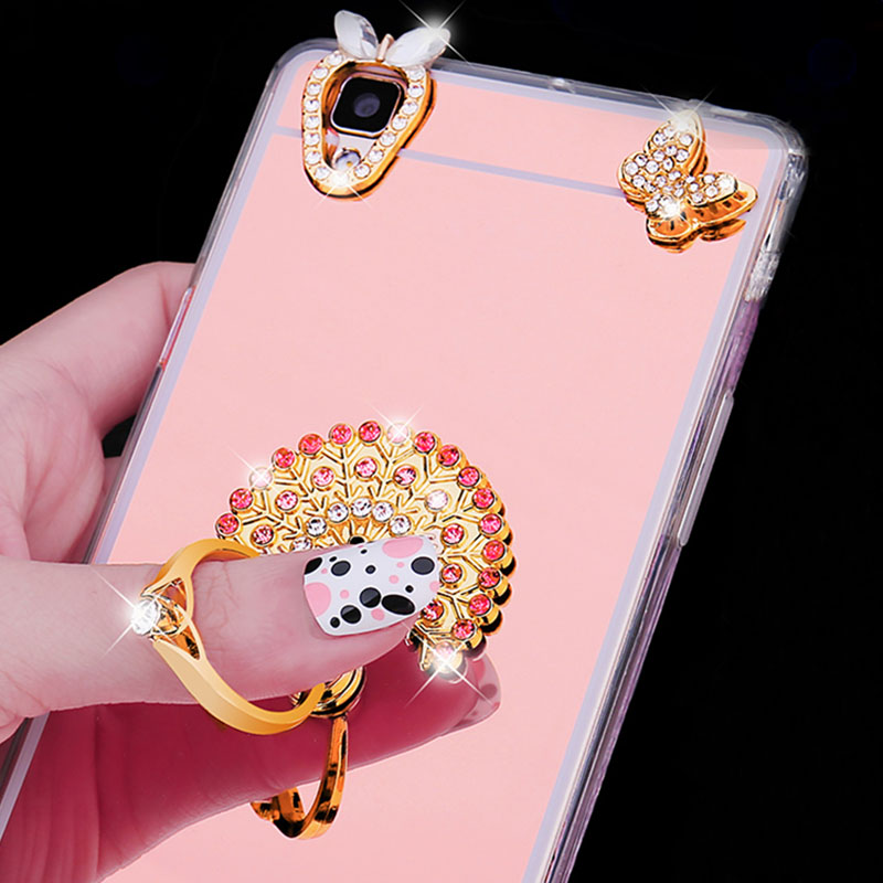 7ac53edf875 Diamond Case For Samsung Galaxy A6 Plus 2018 J4 J6 J8 J3 J5 J7 2016 A5 A7  2017 Luxury Mirror Stand Holder Plating TPU Soft Cover