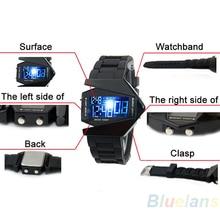 СВЕТОДИОДНЫЙ Дисплей часы Цифровые мужчины спорт военная Негабаритных часы Back Light женщины Наручные Часы Новинка Продажа 2A2U