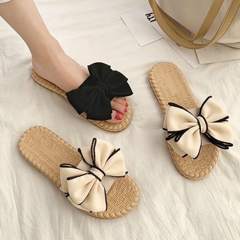 Cute Flower Slippers Women Shoes Indoor Home Ladies Summer