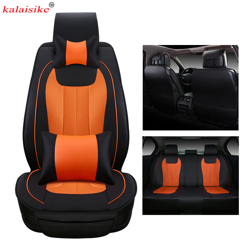 kalaisike leather Universal Car <font><b>Seat</b></font> <font><b>Covers</b></font> for <font><b>Peugeot</b></font> all models 206 307 407 207 2008 406 <font><b>301</b></font> 3008 508 208 308 car accessories image