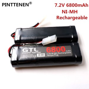 New 7.2V Battery 6800mah NiMH Batteries Pack For RC Car Truck Buggy Boat Tank Ni-Mh Baterias gray supper power(China)