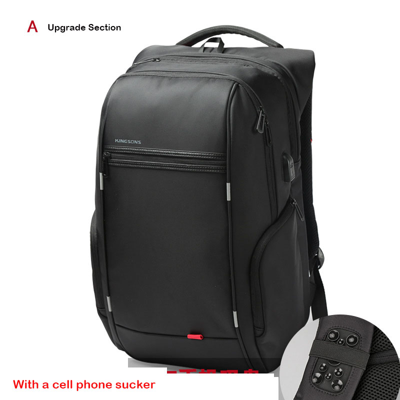 Kingsons Backpack Men Womens for 13/15.6/17 Inches Anti Theft Laptop Backpack for Teenager Girls Boys USB Charging Back Pack Bag