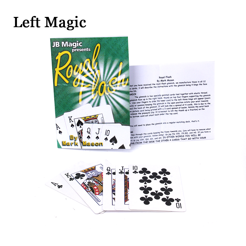 Royal Flash By Mark Mason And JB ( 5 Cards ) Magic Tricks Piaying Card Poker Close-Up Stage Accessory Illusion Magician