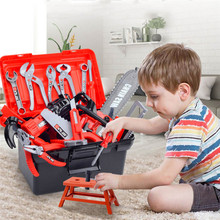 Children Repair Tool Toys Kit Pretend Play Electric Drill Nut Saw Disassembly Simulation Educational Set For Boys Kids