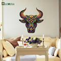Decorative Wall Stickers Bedroom Environmental Removable Transparent Stickers Color Pattern Domineering Family Name Wind Tau