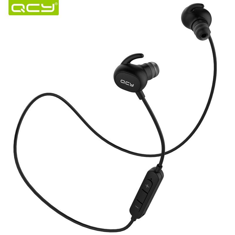 QCY QY19 IPX4-rated sweatproof стерео bluetooth 4.1 наушники беспроводные спорт наушники гарнитура с МИКРОФОНОМ для iphone 5s 6 aptx 7