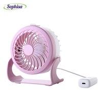 Sophisa névoa fria ar condicionado fã mini ventilador usb ventilador de mesa recarregável condicionador de ar portátil para Escritório Estudante SPMINFAN07