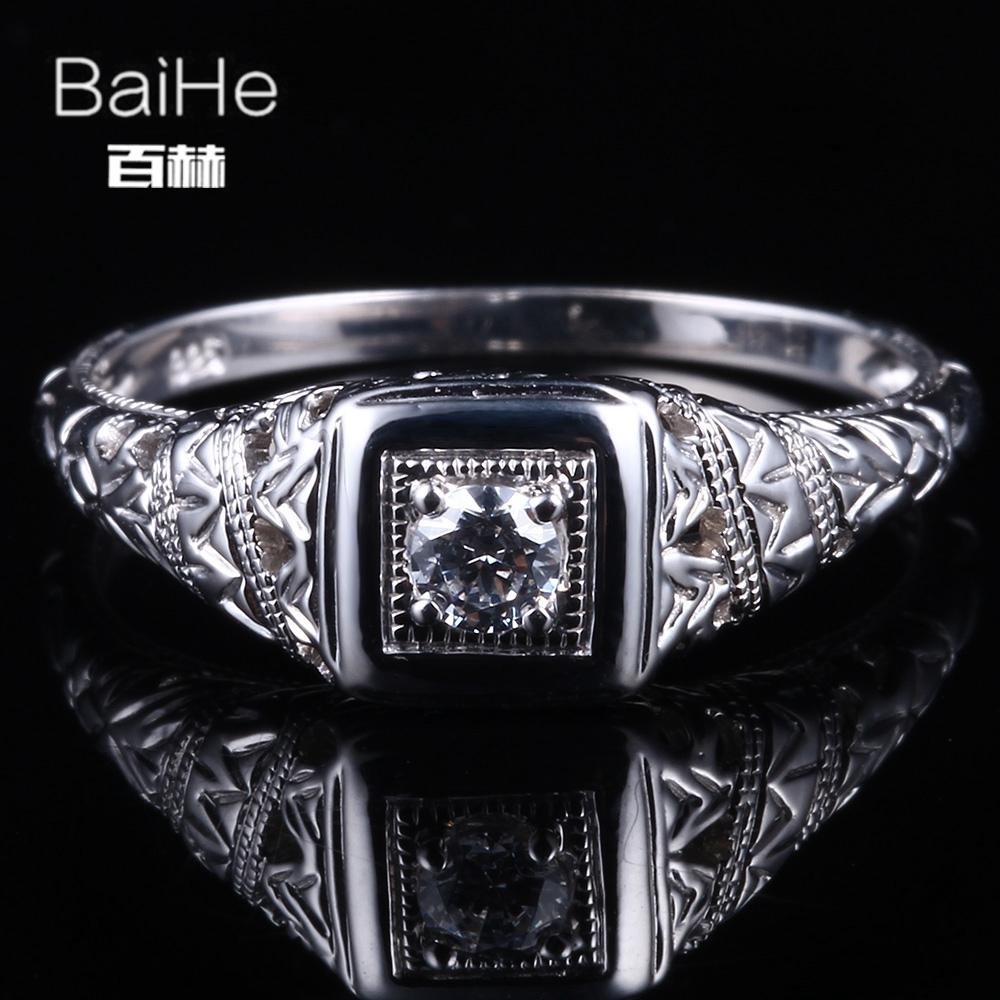 BAIHE Solid 14K White Gold(AU585) 3mm Certified Genuine AAA Graded Cubic Zirconia/Flawless Women Office/career Fine Jewelry RingBAIHE Solid 14K White Gold(AU585) 3mm Certified Genuine AAA Graded Cubic Zirconia/Flawless Women Office/career Fine Jewelry Ring