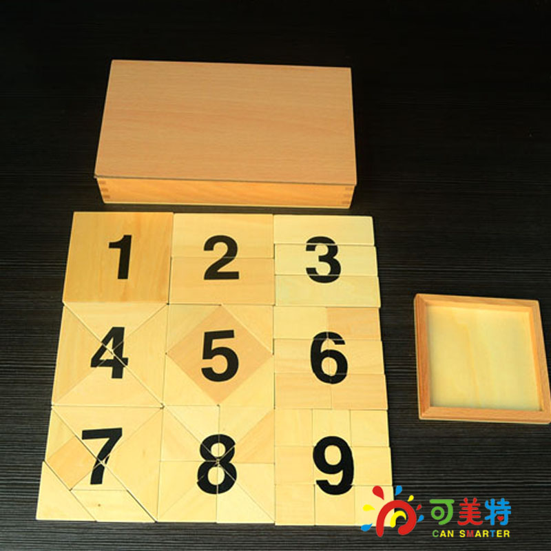 MontessoriMaterials Education 1-9 Numbers Puzzles  Beech Wood  Math toys Early educational toys Can Smarter lego education 9689 простые механизмы