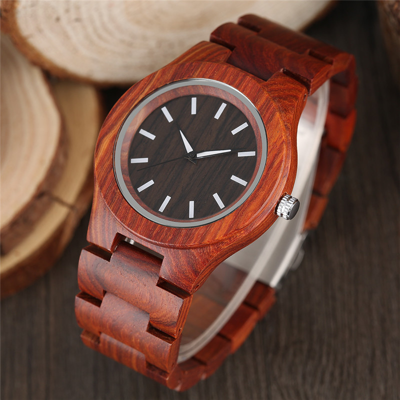 Creative Bamboo Wood Watch Quartz Analog Nature Wood Band Casual Fashion Wooden Wrist Watch Gifts for Men Women Reloj de madera casual deer head genuine leather band nature wood quartz wrist watch elk bamboo strap men women analog brown creative cool gift