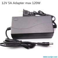 EU Plug AC Converter Adapter For DC 12V 5A Power Supply Balancer Charger For 5050 3528