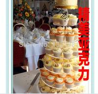 Layer 7 round word dessert aircraft exquisite acrylic wedding cake Package mail organic glass pastry shelf decoration