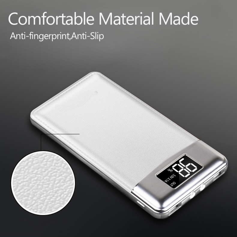 Slim 20000 mAh Power Bank Portable Ultra thin Polymer Powerbank battery power bank 20000mah With Dual LED Light for Mobile Phone in Power Bank from Cellphones Telecommunications