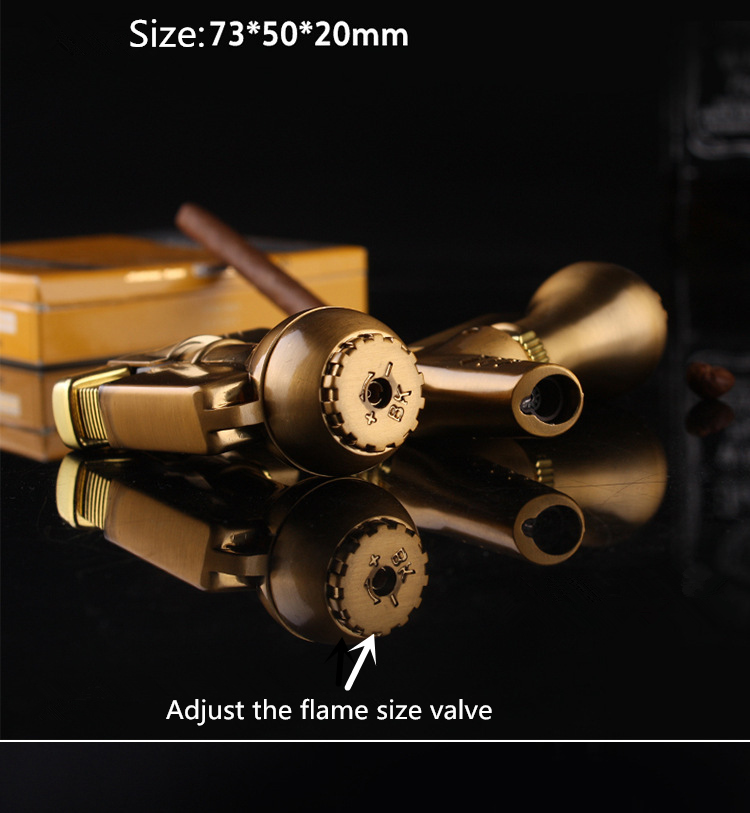 NEW Portable Spray Gun Compact Butane Jet Lighter Torch Turbo Lighter Fire Windproof Metal JET Lighter 1300 C NO GAS in Matches from Home Garden
