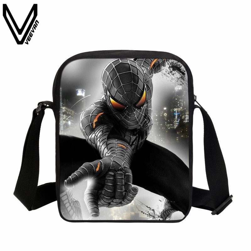 VEEVANV 2017 Comics Spiderman Messenger Bag