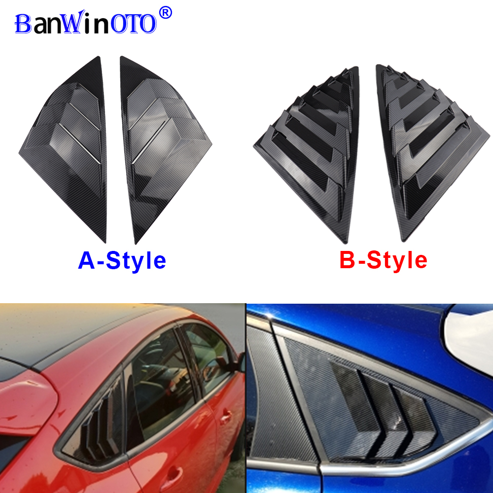 Carbon Fiber Rear Window Shutter Lid Lip Spoiler for FOCUS 12 13 14 15 16 17 18