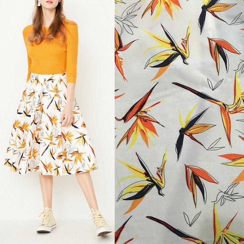50*142 cm fleurs imprimé coton tissu, 100% coton popeline tissu pour patchwork Couture vêtements, BRICOLAGE tissu tissu poupées femmes robe