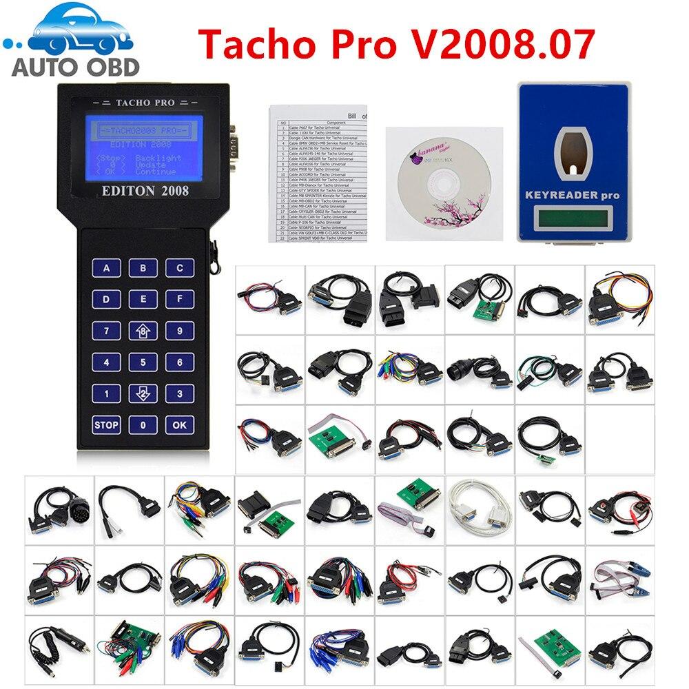 Professional Tacho Pro V2008 July Plus Universal Dash Programmer Unlock Tacho Pro 2008 Universal Odometer Programmer V2008.07 Elegant And Graceful