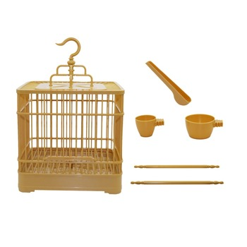 Assembly Bird Cage With Feeder And Waterer Small Pet Bird Full Set Of Plastic Bird House Thrush Parrot Cage 23x23x22cm 3
