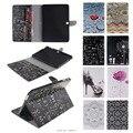 Pintura colorida stand flip caso de couro pu para samsung galaxy tab 4 10.1 T530 T531 T535 Tablet Pc Case Back Cover & Slots de Cartão