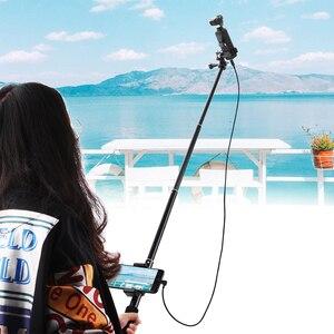 Image 3 - Palo di estensione Selfie Bastone per DJI OSMO Tasca 2 Handheld Gimbal Stabilizzatore con il Telefono Staffa di Montaggio A Morsetto Cavo per il Tipo C