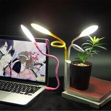 цена на Mini 14 led 5V USB LED Light Portable Flexible  Table desk Lamp Night light For Laptop Power Bank WC Camping Book Reading Light