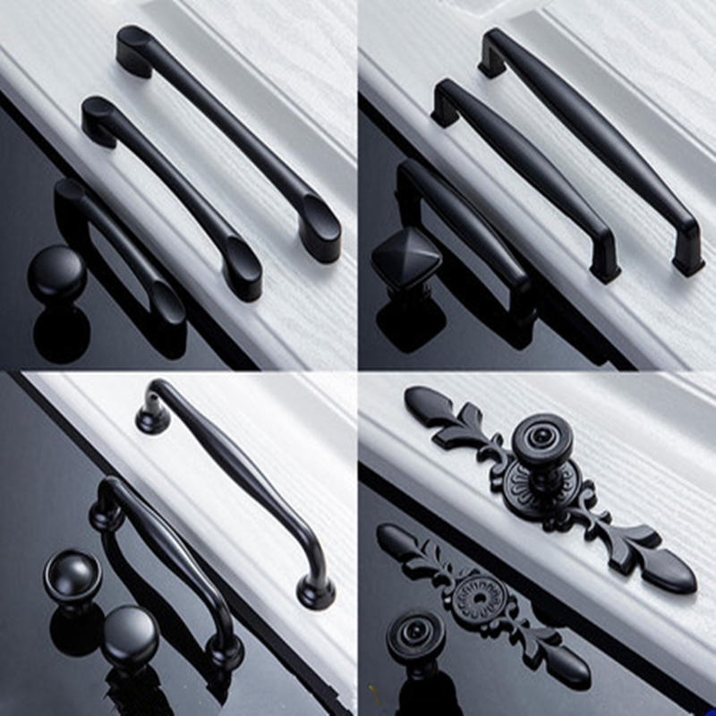European Simple Single Hole Furniture Handles And Knobs Wardrobe Door Pulls Dresser Drawer Handles Kitchen Cupboard Handle