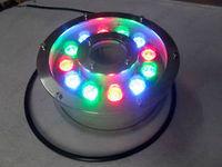4pcs 12W LED RGB Color Change Fountain Pool Pond Tank Light Aquarium Lamp AC 12V