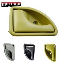 WOLFIGO Bege/Preto/Cinza Para Renault Kangoo 1997-2007 Twingo 1993-2007 Maçaneta da porta Interior Interior Lado DIREITO 8200259377 Novo