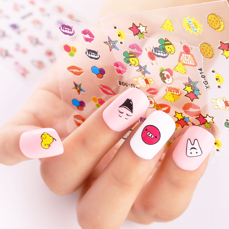 3D Nail Art Stickers Beauty Summer Style 24 Design Pig Face Anchor For Nail  Foils Manicure Decals Foil Decorations Tools JH153-in Stickers & Decals  from ... - 3D Nail Art Stickers Beauty Summer Style 24 Design Pig Face Anchor