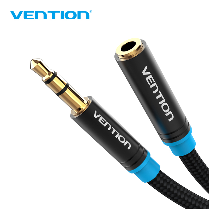 Vention Aux Cable Headphone Extension Cable 3.5mm Jack Male to Female For Computer Audio Cable 3.5mm Headphone Extender Cord vention headphone extension cable 3 5mm jack male to female aux cable 3 5 mm audio extender cord for computer iphone amplifier