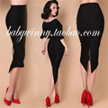 le palais vintage women vintage black high waist wiggle midi pencil tuxedo skirt elegant office work wear plus size saia skirts