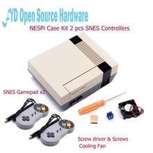 Mini NESPI Retroflag Case with Cooling Fan and 2 Pack SENS Gamepad Controller for RetroPie Raspberry Pi 3/2/B+