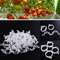 2015*New Durable Clear 50Pcs Plant Support Clips Vine Garden Vegetables 23mm For types plants*Hanging Plastic