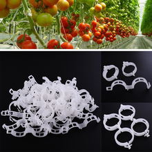 2017*New Durable Clear 50Pcs Plant Support Clips Vine Garden Vegetables 23mm For types plants*Hanging Plastic