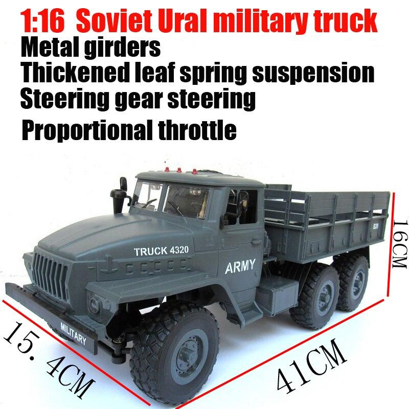 WPL 6X6 Ural radiocommandé voitures hors route RC pièces de voiture 1:16 6WD simulation RC chenille militaire camion corps assembler des jouets pour enfants